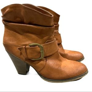 MIA tan ankle boots